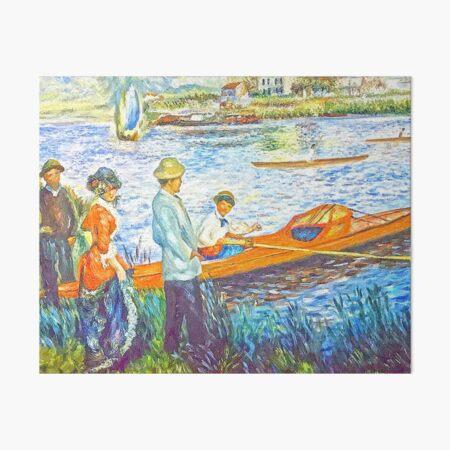 oarsmen at chatou Art Board Print