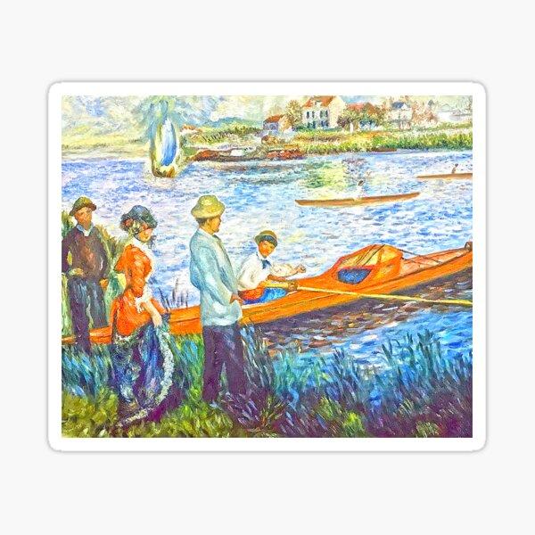 oarsmen at chatou Sticker