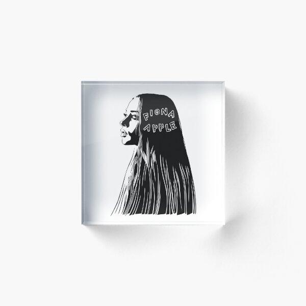 Fiona Apple black Acrylic Block