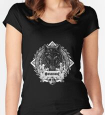 Pride of the Forest Wolf Mononoke Geek Line Artly Women's Fitted Scoop T-Shirt
