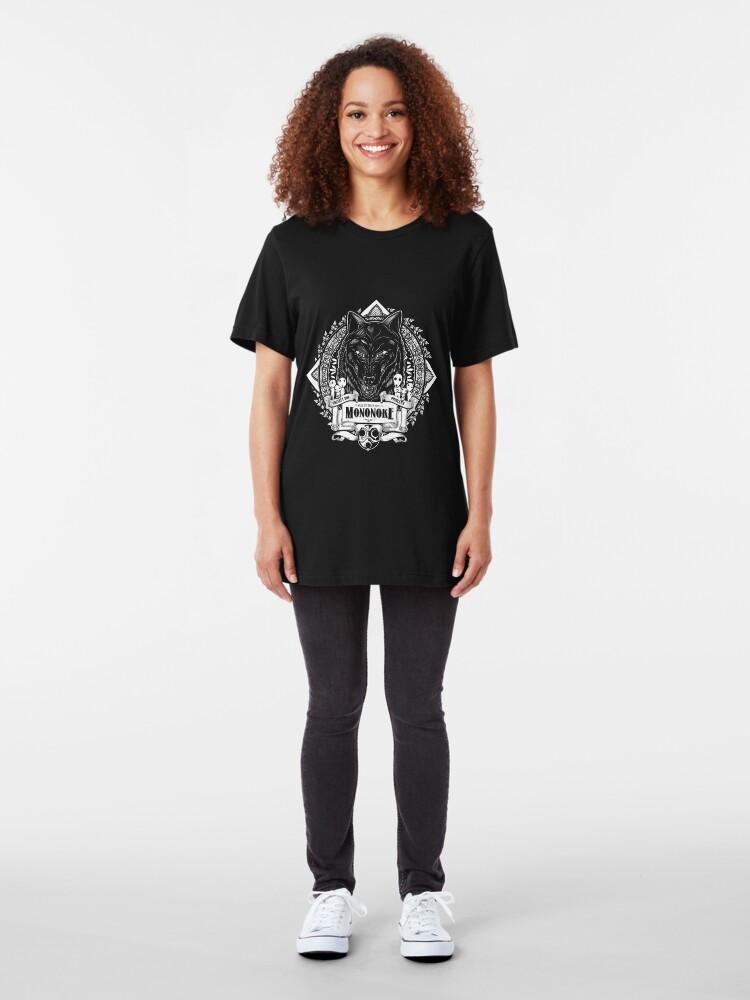 Vista alternativa de Camiseta ajustada Orgullo del bosque Wolf Mononoke Geek Line Artly
