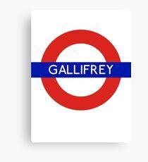 Fandom Tube- GALLIFREY Canvas Print