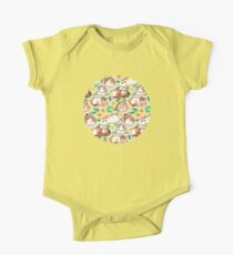 Guinea Pigs and Daisies in Watercolor One Piece - Short Sleeve