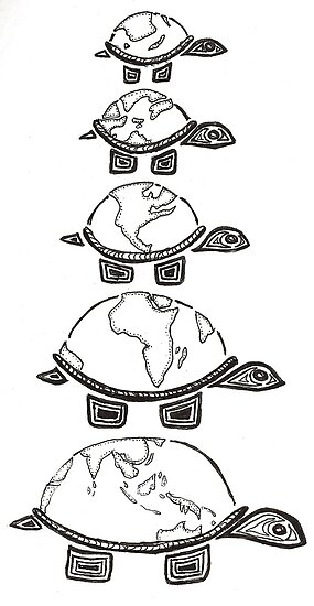 the world on the turtles back