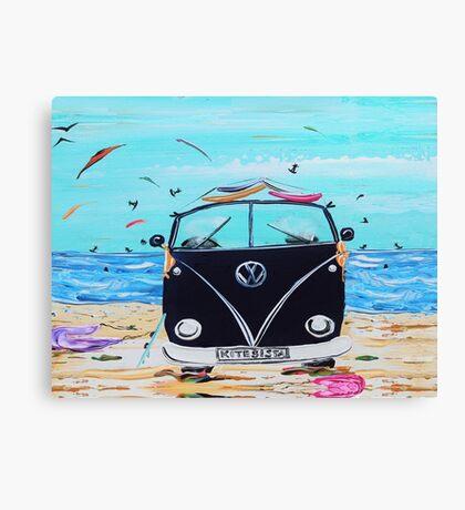 KITE SISTA SURFING VW KOMBI VAN Canvas Print
