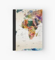 map Hardcover Journal