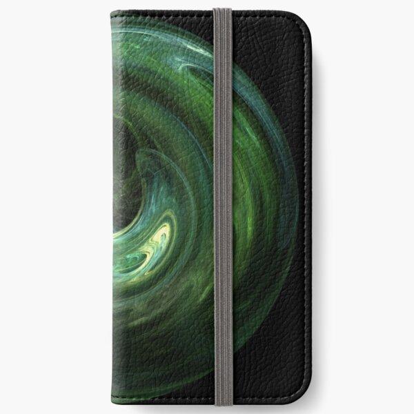 Emerald Vortex iPhone Wallet