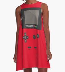 Retro Video Game Boy Console   A-Line Dress