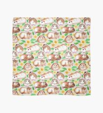 Guinea Pigs and Daisies in Watercolor Scarf