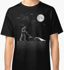 Lawnmowing By Night Classic T-Shirt