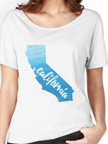 California - blue watercolor  Women's Relaxed Fit T-Shirt