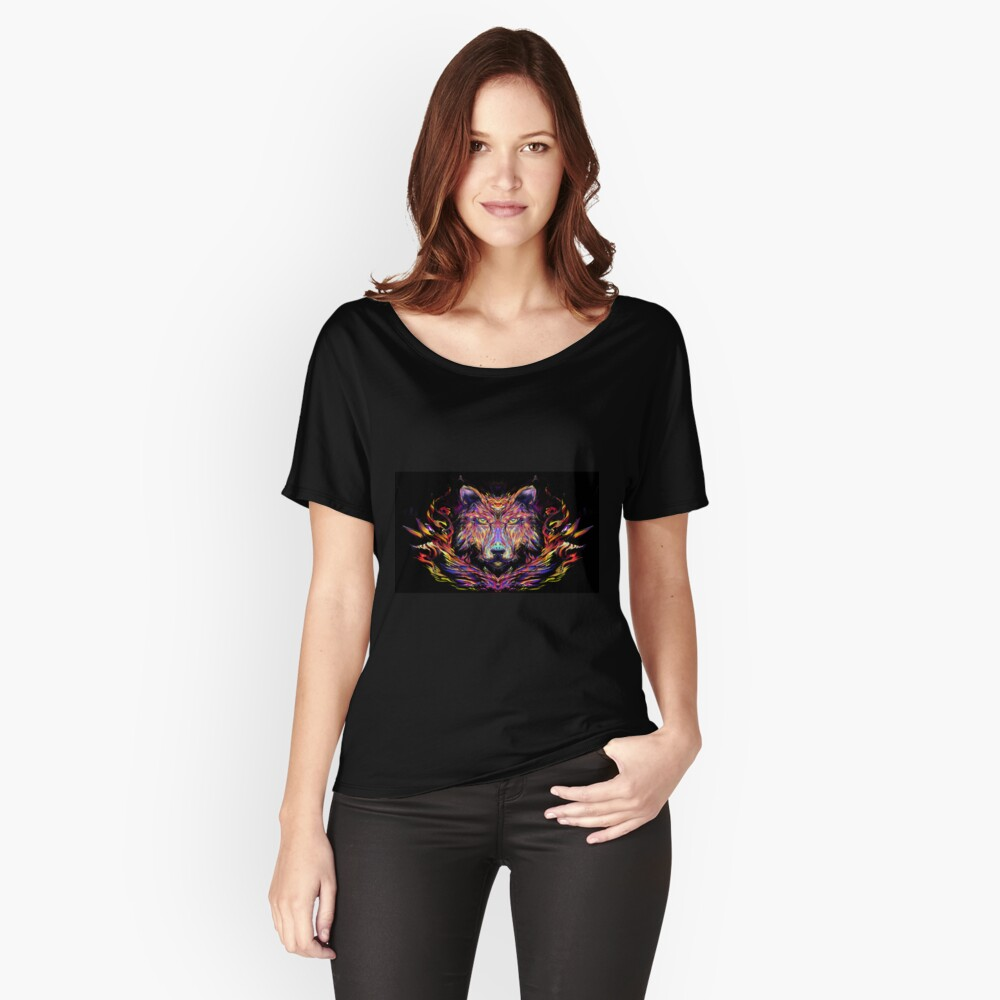psychedelic wolf Women's Relaxed Fit T-Shirt Front