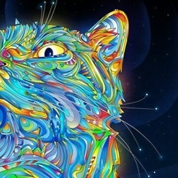 psychedelic cat by elisamarie