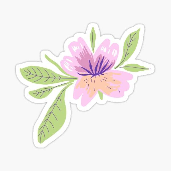 Baby pink artsy flower sticker Sticker