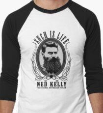 Ned Kelly - Original Outlaw Design Men's Baseball ¾ T-Shirt