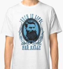 Ned Kelly - Original Outlaw Design in blue Classic T-Shirt