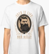 Ned Kelly - Original Outlaw Design in cream Classic T-Shirt