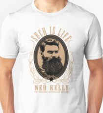 Ned Kelly - Original Outlaw Design in cream T-Shirt