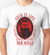 Ned Kelly - Original Outlaw Design in red T-Shirt
