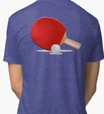 SPORT, Ping Pong, Table Tennis, Bat & Ball Tri-blend T-Shirt