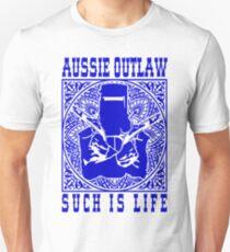 Ned Kelly - Bushranger blue design Unisex T-Shirt