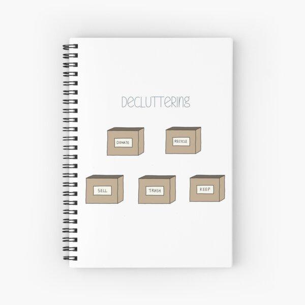 Hand Drawn Decluttering Minimalism Stickers Spiral Notebook