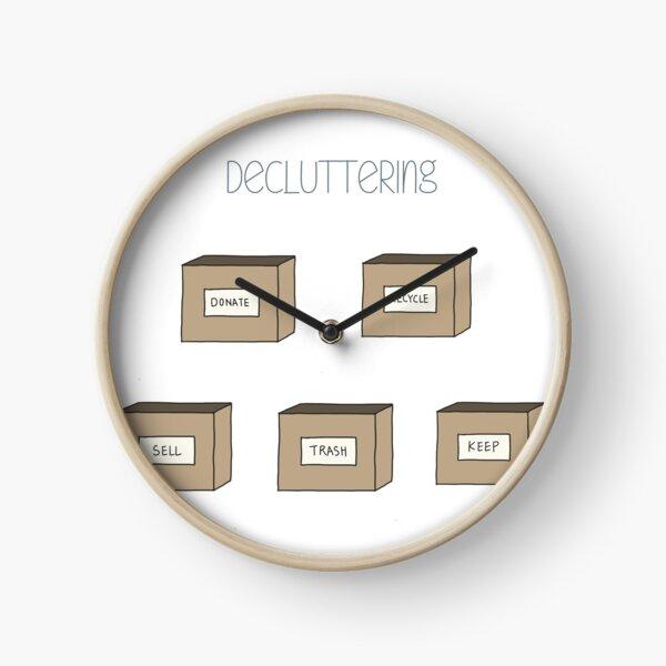 Hand Drawn Decluttering Minimalism Stickers Clock