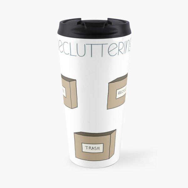 Hand Drawn Decluttering Minimalism Stickers Travel Mug