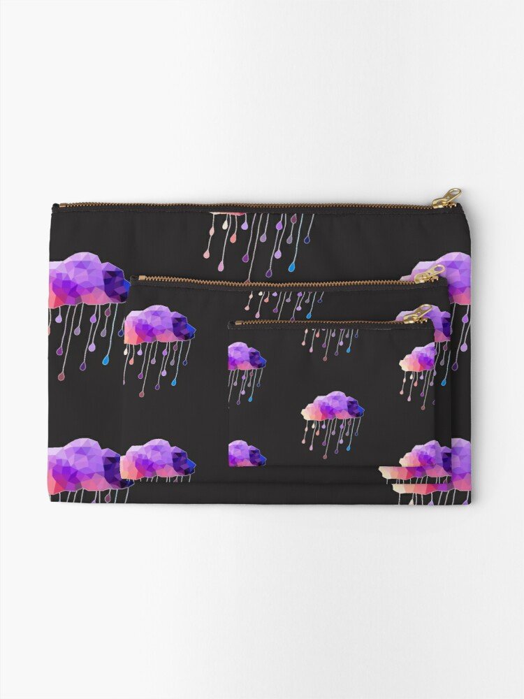 Alternate view of Raindrop Cloud Zipper Pouch