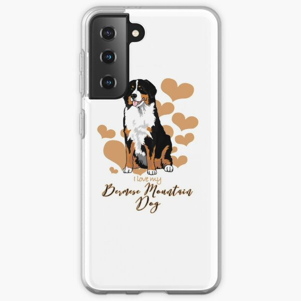 I love My Bernese Mountain Dog (A)! Especially for Berner Dog Lovers! Samsung Galaxy Soft Case