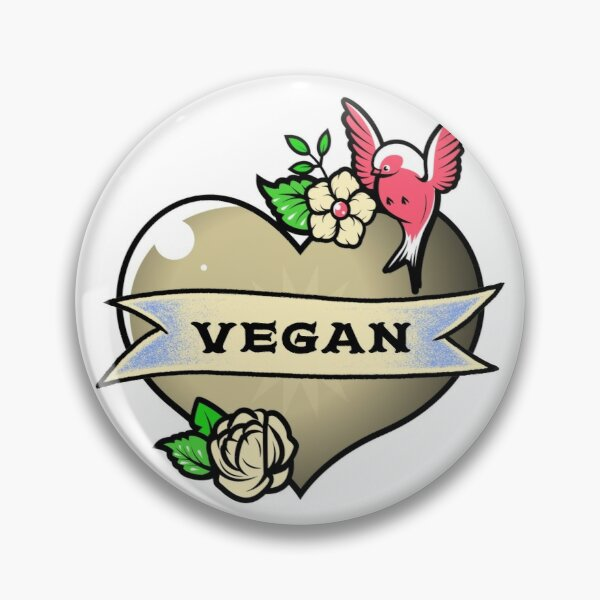 Vegan at Heart Pin
