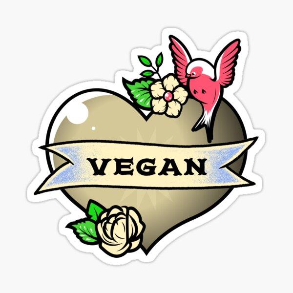 Vegan at Heart Sticker