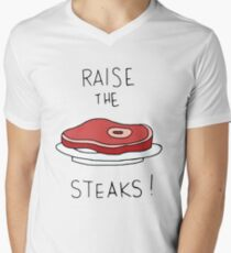 Raise the Steaks! Men's V-Neck T-Shirt