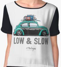 VW Beetle Low & Slow (aquamarine) Women's Chiffon Top