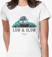 VW Beetle Low & Slow (aquamarine) Womens Fitted T-Shirt