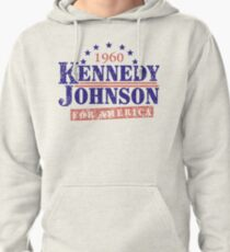 Vintage Kennedy Johnson 1960 Presidential Campaign Pullover Hoodie