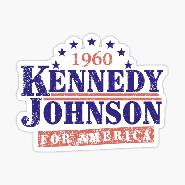 Vintage Kennedy Johnson 1960 Presidential Campaign Sticker
