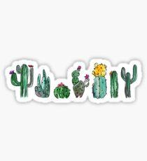 Watercolor Cactuses Sticker