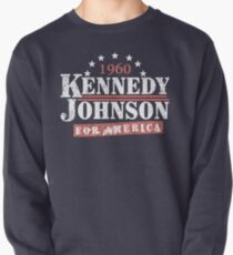 Vintage Kennedy Johnson 1960 Presidential Campaign Pullover