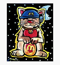 McKitty - McDonalds Lucky Cat Photographic Print