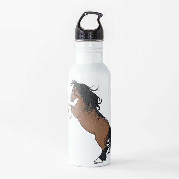 Rearing Gypsy Vanner- Bay Water Bottle