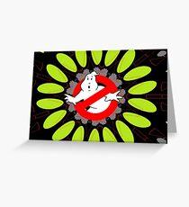 Ghostbusters behind Print Greeting Card