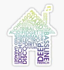 House Genres Sticker