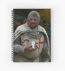 Medieval Knight Spiral Notebook