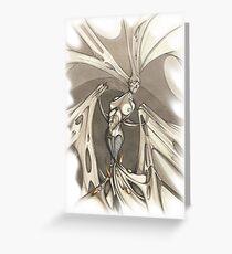 Gothic Demon Asphyxiation  Greeting Card