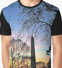 Washington D.C. (Washington Monument) at Sunset Graphic T-Shirt