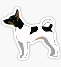 Rat Terrier Basic Breed Silhouette Illustration Sticker