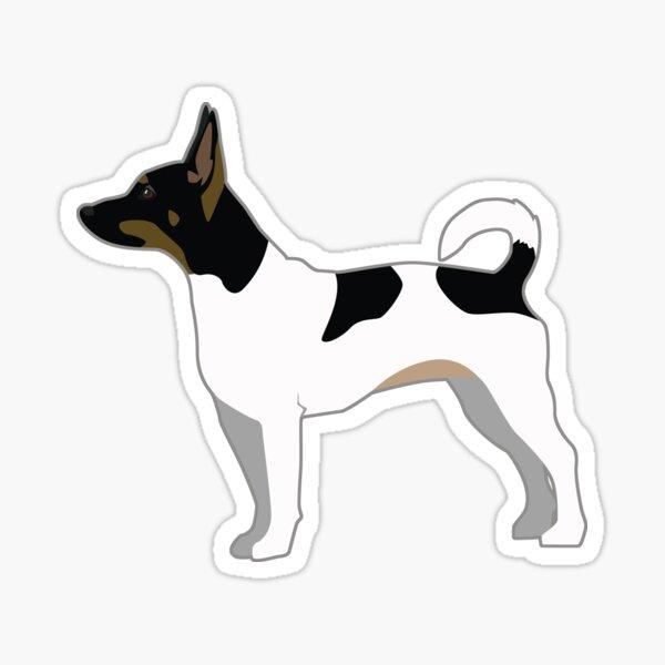 Rat Terrier Basic Breed Silhouette Illustration Sticker