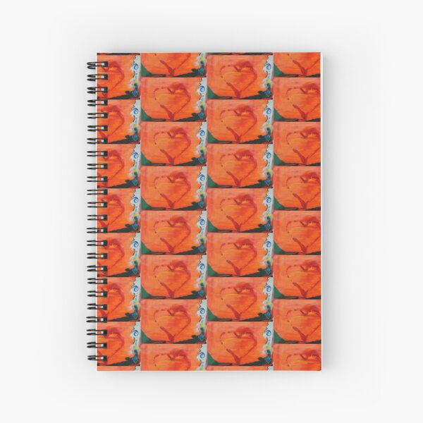 Sweet Heart Art Spiral Notebook