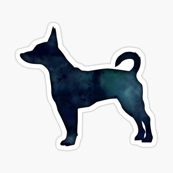 Rat Terrier Black Watercolor Silhouette Sticker